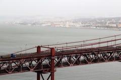 25th Kwietnia most, Lisbon Obrazy Stock