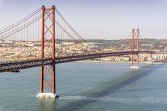 25th Kwietnia most w Lisbon, Portugalia Zdjęcie Royalty Free