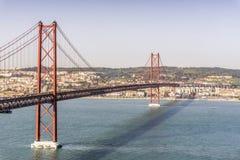 25th Kwietnia most w Lisbon, Portugalia Obrazy Royalty Free