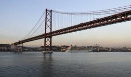 25th Kwietnia most w Lisbon, Portugalia Obraz Stock