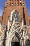 13th kyrka för helig Treenighet för århundrade, fasad, Krakow, Polen Royaltyfri Foto