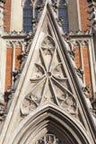 13th kyrka för helig Treenighet för århundrade, fasad, Krakow, Polen Arkivfoto