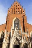 13th kyrka för helig Treenighet för århundrade, fasad, Krakow, Polen Royaltyfri Bild