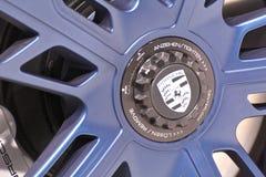 88th Lemański Międzynarodowy Motorowy przedstawienie 2018 - Porsche logo Fotografia Stock