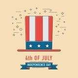 4th Lipa świętowania patriotichat ikona amerykańska niepodległość Obrazy Royalty Free
