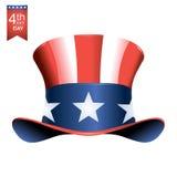 4th Lipa dnia niepodległości Amerykańska ilustracja Zdjęcie Stock