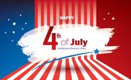 4th Lipa dnia niepodległości Patriotyczny sztandar royalty ilustracja