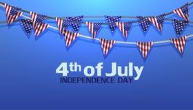 4th Lipa dnia niepodległości usa sprzedaży sztandaru wektorowa ilustracja Obrazy Royalty Free