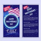 4th Lipa usa dnia niepodległości sprzedaży ulotki projekta szablon dla twój projektów royalty ilustracja