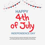 4th Lipa usa dzień niepodległości Obrazy Royalty Free