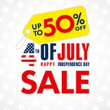 4th Lipa usa, dzień niepodległości sprzedaży promoci sztandar Zdjęcie Stock