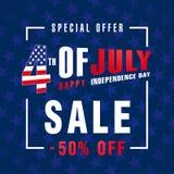 4th Lipa usa, dzień niepodległości sprzedaży promoci tło Zdjęcia Stock