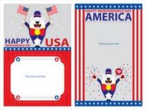4th Lipiec, Amerykańscy dni niepodległości szablony Royalty Ilustracja