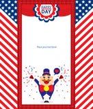 4th Lipiec, Amerykański dnia niepodległości tło Ilustracja Wektor