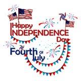 4th Lipiec, dzień niepodległości Ameryka Obrazy Royalty Free