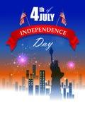 4th Lipiec, dzień niepodległości Ameryka Obraz Royalty Free