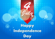 4th Lipiec ilustracja, Amerykański dnia niepodległości świętowanie Obrazy Royalty Free
