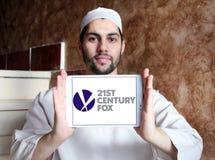 21th logo de renard de siècle Images libres de droits