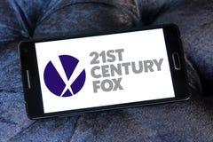 21th logo della volpe di secolo Fotografia Stock Libera da Diritti