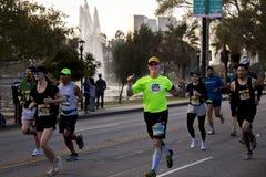 34th Los Angeles maraton, stadium morze - Marzec 24, 2019 wygrywaj?cy Elisha Barno Merachi i Askale, (samiec) (kobieta fotografia royalty free