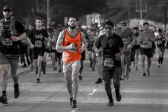 34th Los Angeles maraton, stadium morze - Marzec 24, 2019 wygrywaj?cy Elisha Barno Merachi i Askale, (samiec) (kobieta obraz stock