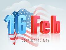 16th Luty, Amerykański prezydentów dni świętowanie ilustracji