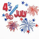 4th lyckliga juli Royaltyfria Foton