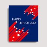 4th lyckliga juli Royaltyfria Bilder