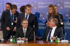 35th möte av rådet av ministrar av utländskt - angelägenheter av organisationen av statistiken för medlem Black Sea för ekonomisk Fotografering för Bildbyråer