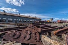 11th Maj 2015 Nevada Northern Railway Museum, östliga Ely Arkivfoton