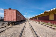 11th Maj 2015 Nevada Northern Railway Museum, östliga Ely Arkivfoto