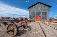 11th Maj 2015 Nevada Northern Railway Museum, östliga Ely Arkivbild