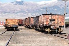 11th Maj 2015 rullande materiel, Nevada Northern Railway Museum, östliga Ely Royaltyfria Foton