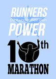 10th Marathon Race Poster Royalty Free Stock Images