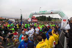 36th maratona de Istambul Foto de Stock