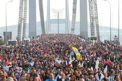 37th maratona de Vodafone Istambul Foto de Stock