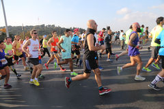 37th maratona de Vodafone Istambul Foto de Stock Royalty Free