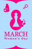 8th march theme, international women`s day theme. stock illustration