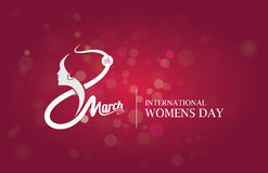 8th March Womens Day Template Royalty Free Stock Photo