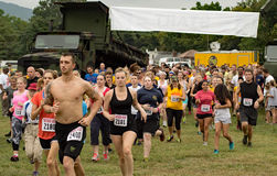21th Marine Mud Run annuelle - coureurs Photos stock
