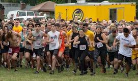 21th Marine Mud Run annuelle - ligne de départ Photographie stock