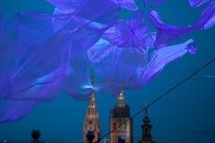 16th marknad 2018 Zagreb Kroatien—festival av ljus i Zagreb arkivbild