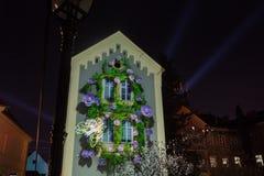 16th marknad 2018 Zagreb Kroatien—festival av ljus i Zagreb royaltyfri foto
