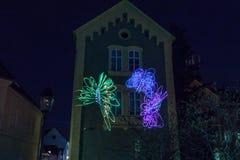 16th marknad 2018 Zagreb Kroatien—festival av ljus i Zagreb royaltyfri bild