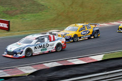 TH Marques and Lico Racing Cars Interlagos Brazil Stock Images
