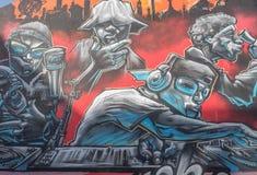 9th mars 2017, Brighton, UK Gatakonst av graffittikonstnären Br Arkivbilder