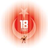 18th mars spelar martyr minnedag Arkivfoto