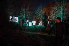 16th mart 2018. Zagreb, Croatia – Festival of light in Zagreb royalty free stock images