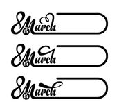 8th match. Calligraphic text. 8th match calligraphic text on white background royalty free illustration