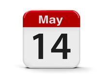 14th May. Calendar web button - The Fourteenth of May, three-dimensional rendering, 3D illustration Stock Photos